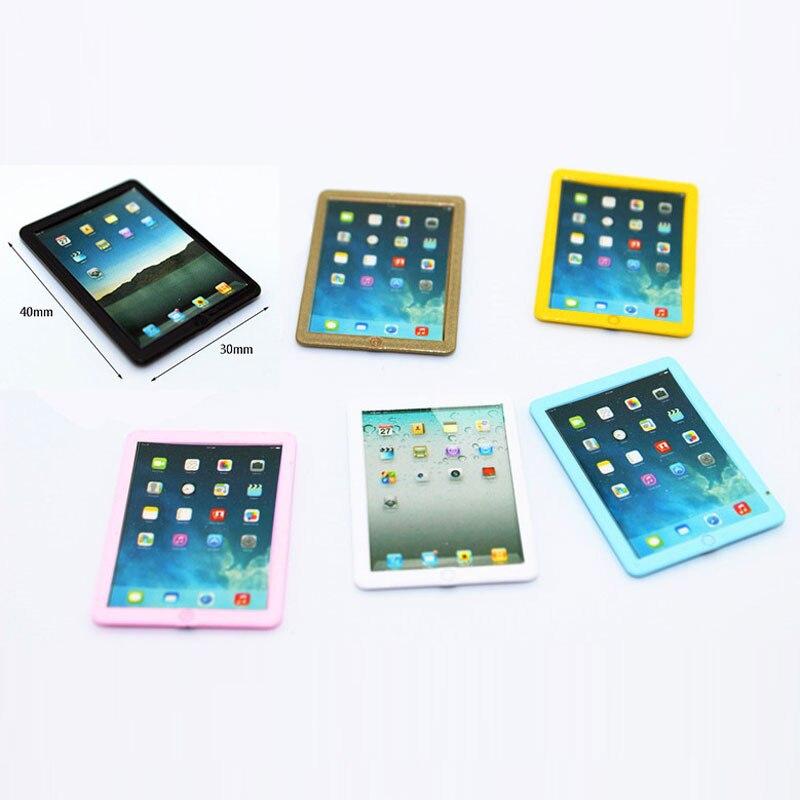 Mini Real Food Kitchen: 1:6/1:12 Scale Mini Ipad Phone Dollhouse Miniature Toy