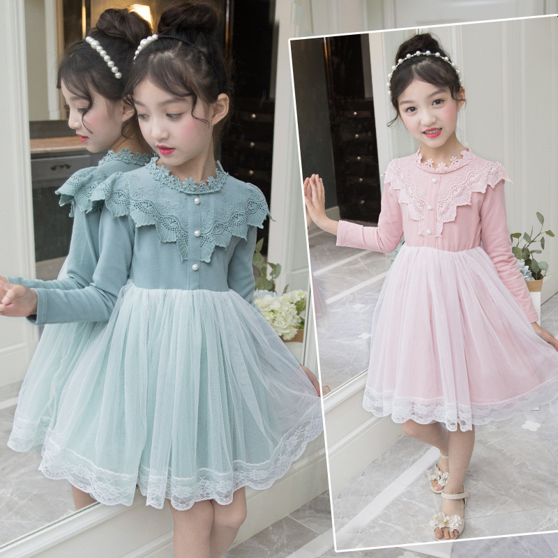 school patchwork lace girls dress princess girls long sleeve dresses kids clothes toddler dresses for girls children clothing striped patchwork character girl dresses long sleeve cute mous kids clothing girls dress denim spring summer children clothes