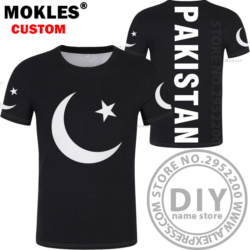 PAKISTAN t shirt diy brezplačno po meri ime številka pak t-shirt - Moška oblačila - Fotografija 3