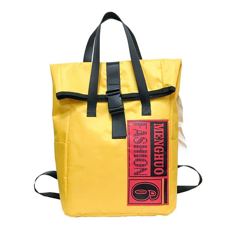 ... Унисекс Желтый Нейлон Мода рюкзак женский рюкзаки дизайн для обувь  девочек отдыха и путешествий школьный простой ... e89032e7618