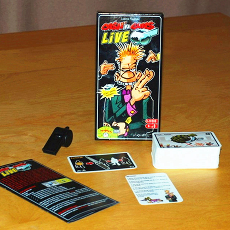 Cashn Guns Live Card Game 8-20 Players Funny Cards Game Classic Send English Instructions Free Shipping
