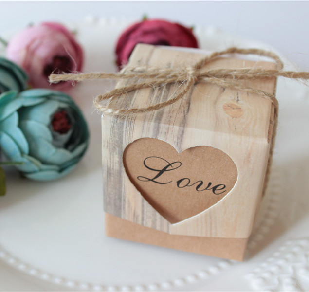 100pc Wedding Favor Gift Bo Black Heart Love Theme Valentine S Day Candy Box Casamento Jute Ropethank You On Aliexpress Alibaba