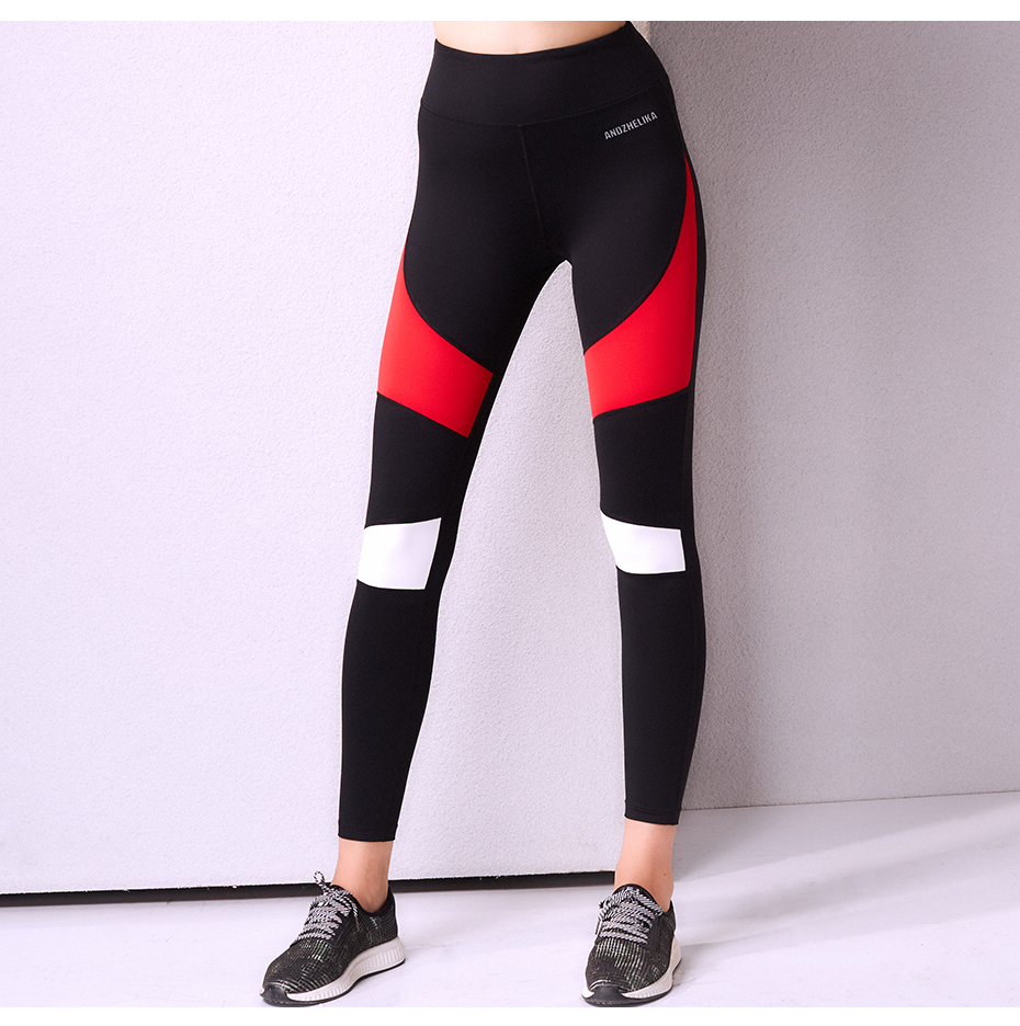 0a3b3f3262 Andhelika 2018 Fitness Women Running Leggings Sports Black and Red Elastic  Pants for Yoga Gym Running Tights Workout Yoga Pants