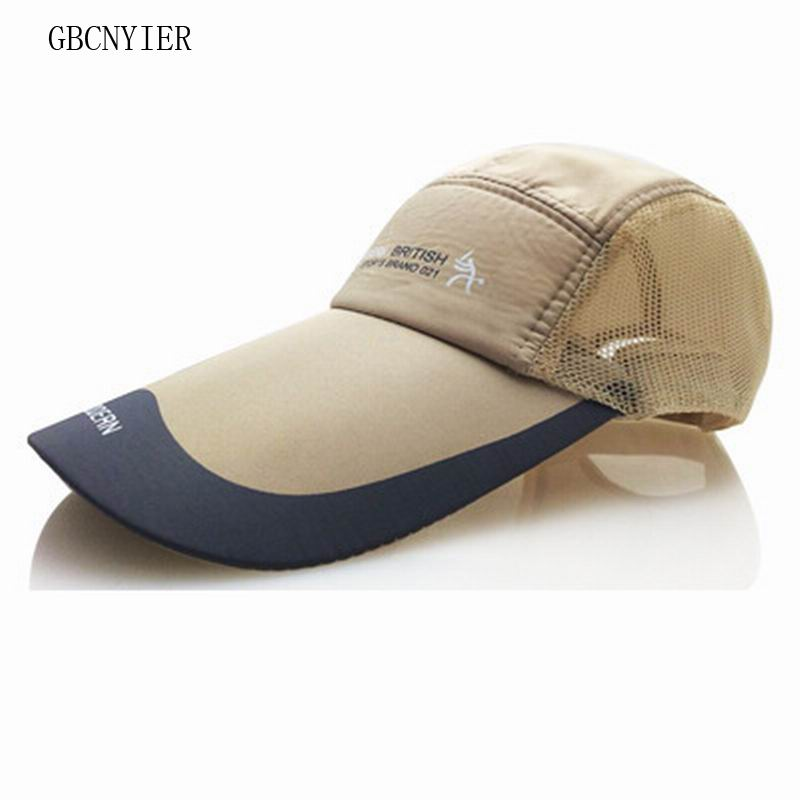GBCNYIER Cheap Long Brim 11cm Baseball Cap Big Brim Summer Quick Dry Dad Hat Outdoor Breathable Mesh Gorras Adjustable Unisex