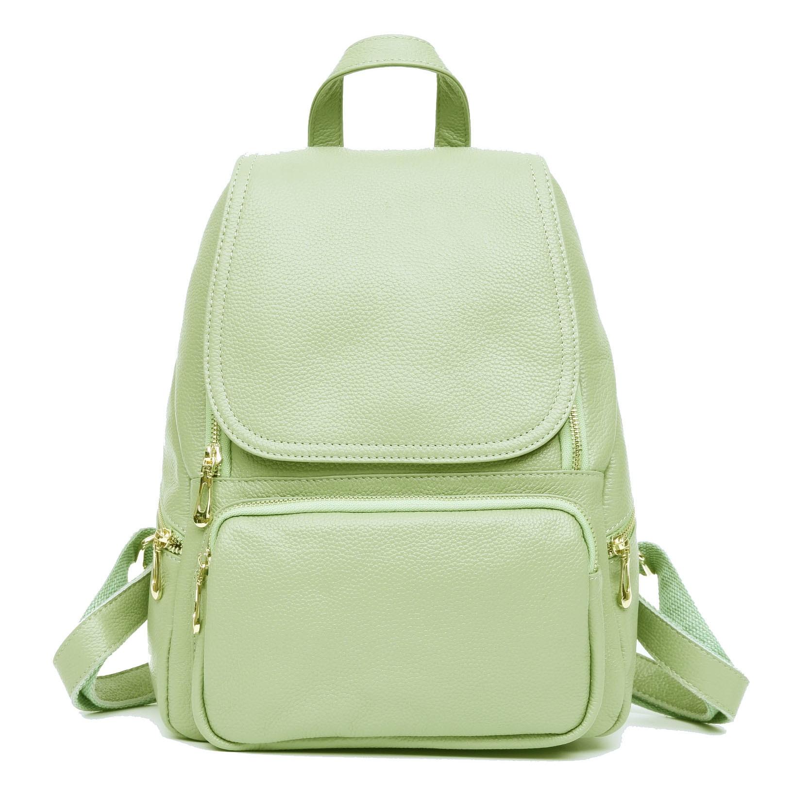 ZENCY Green Dark Red Backpack 100 Real Soft Genuine Leather Women Backpacks Ladies Girl s Top