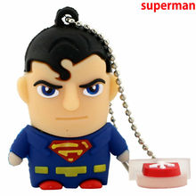 Superhero Avenger/Superman/Batman/Spider Man pendrive Usb 2.0 Usb flash drive 8GB 16GB 32GB 64GB