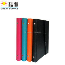 Free shipping color leather Ring Leather Notebook