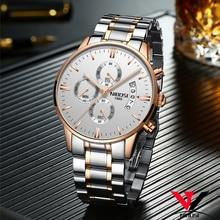 цена Water Resistant Watch Rose Gold Color Men Watch Luxury Top Brand Men's Watch Fashion Dress New Military Relogios NIBOSI Clock онлайн в 2017 году