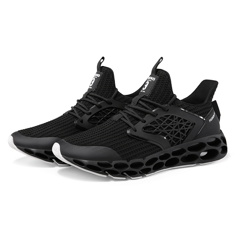 UKT Brand 2018 Cushioning Running Shoes Men Spring and Autumn Mesh PU Leather Light Lace Up Man Sneakers Breathable Mens Sports in Running Shoes from Sports Entertainment