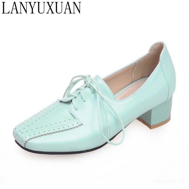 LANYUXUAN 2018 New fashion casual Plus Small big size 28-52 lace shoe High Heels Women Pumps Spring Autumn Shoes Woman E1209 alfani new black women s size small s mesh back high low ribbed blouse $59 259