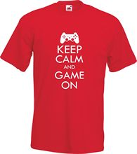 "Cool ""Keep Calm And Game On"" men t-shirt"