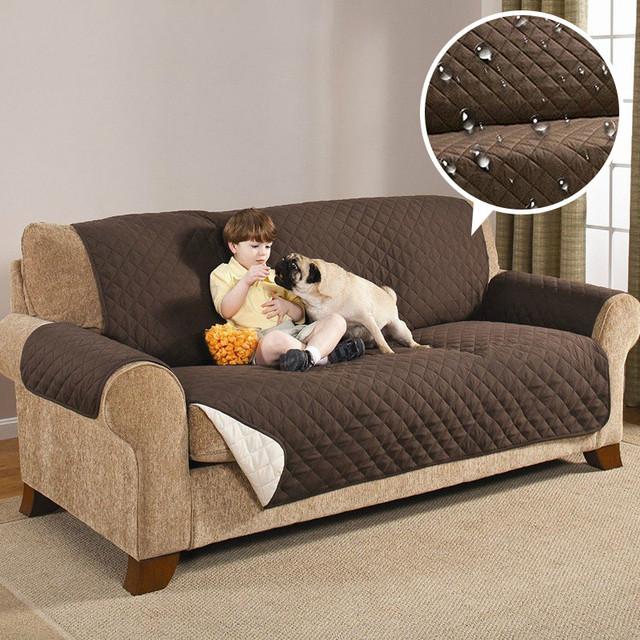 Charmant Waterproof Quilted Sofa Couch Covers Cloak Furniture Protector For Armchair  Loveseat Sofa Chair Slipcovers For Dogs