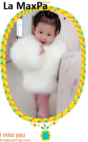 Kinder toddler child baby kid clothes robocar costume roupas fur coat vestido girl outerwear luxury fur