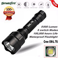 High Quality 5000Lm C8 CREE XM-L T6 LED 18650 Flashlight 5 Mode Torch Tactical Light Lamp