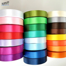 HL 5 meters 3/4 (20mm)  Lots Colors Solid Color Satin Ribbons Wedding Decorative Gift Box Wrapping Belt DIY Crafts R011