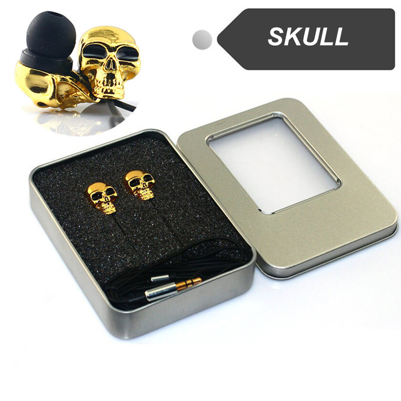 Elivebuy Subwoofer Skull In-ear Earphone fone de ouvido Deep Voice HD Stereo Mental Headset Earbuds For xiaomi iphone kz zs3 in ear hifi earphone 3 5mm jack stereo mobile earbuds running sport earphone fone de ouvido for iphone samsung xiaomi xao
