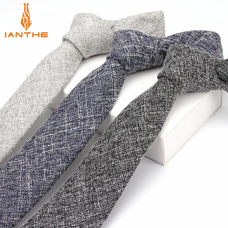 2018 Brand New Men's Fashion Vintage Classic Solid Plain Wedding Neck Ties For Man Formal Business Necktie Neckwear Ties 6cm