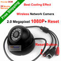 NGtechnic Inalámbrica Onvif 1080 P HD de 2.0MP Mini Domo Cámara IP wifi 24 unids LED Soporte de La Cámara de Red IP de Interior P2P + Restablecer botón