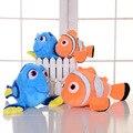 2 pçs/lote Dory + Pelúcia Nemo Peixe Palhaço Nemo Stuffed & Plush Animais Brinquedos