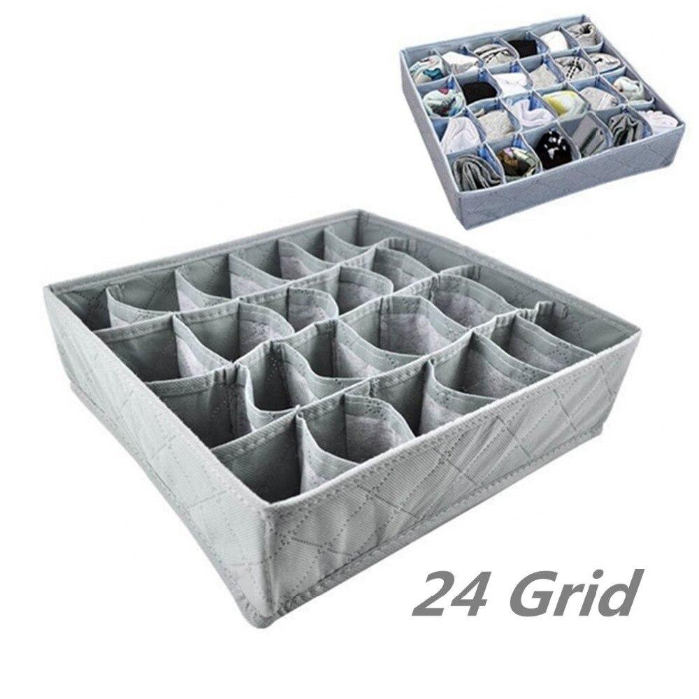 24 grille pliable tiroir diviseur de stockage de soutien gorge bote maquillage organisateur placard cravate - Organisateur De Tiroir
