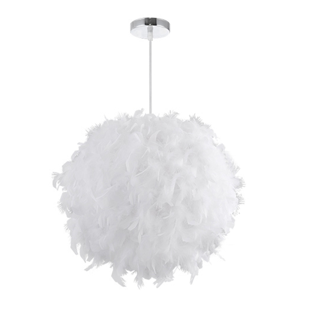chandelier domes promotionshop for promotional chandelier domes  - modern luxury whitepink color feather droplight ceiling lamp absorb domelight feather chandelier flush mount for living room