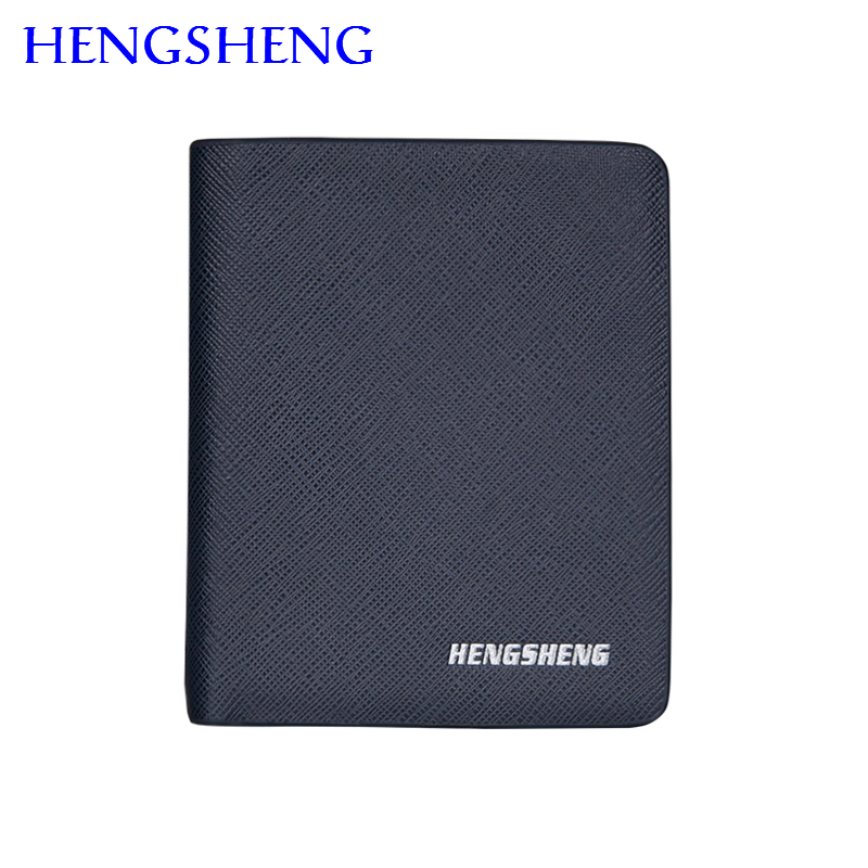 Hengsheng Newly Male Short Wallet For Men Leather With Cheap Price Coin Purse Women Short Wallet Men Cash Pocket Card Holder