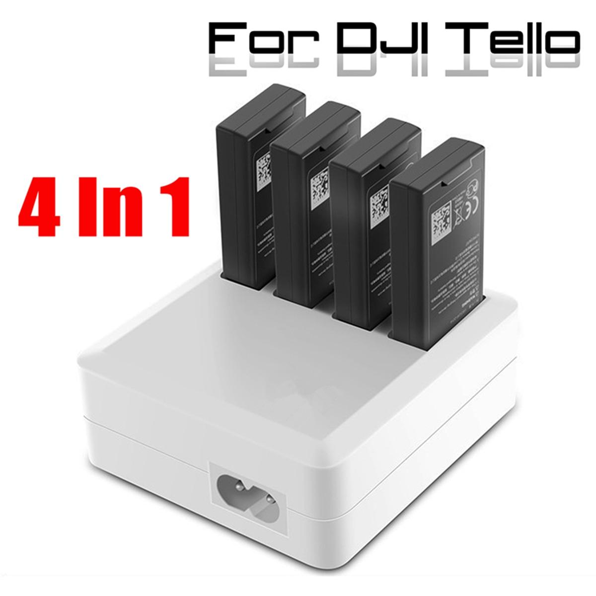4 In1 Multi Batterie Chargeur Hub RC Intelligente De Charge Rapide pour DJI Tello Drone US Plug Caméra Drones Accessoires