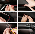 3 Colors 5m/lot car Line Flexible Interior Decoration Moulding Trim Strips for Nissan TIIDA NOTE PRIMERA TERND versa 350z nv200