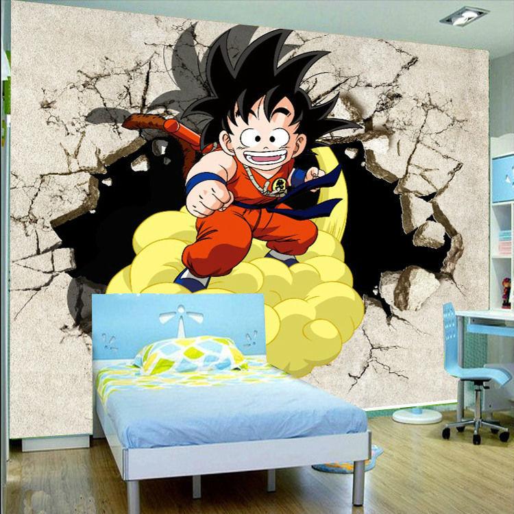 3D Dragon Ball Photo Wallpaper Japanese Anime Wallpaper Custom Wall Mural Boy Bedroom Kid Room Decor Living Room Home Decoration