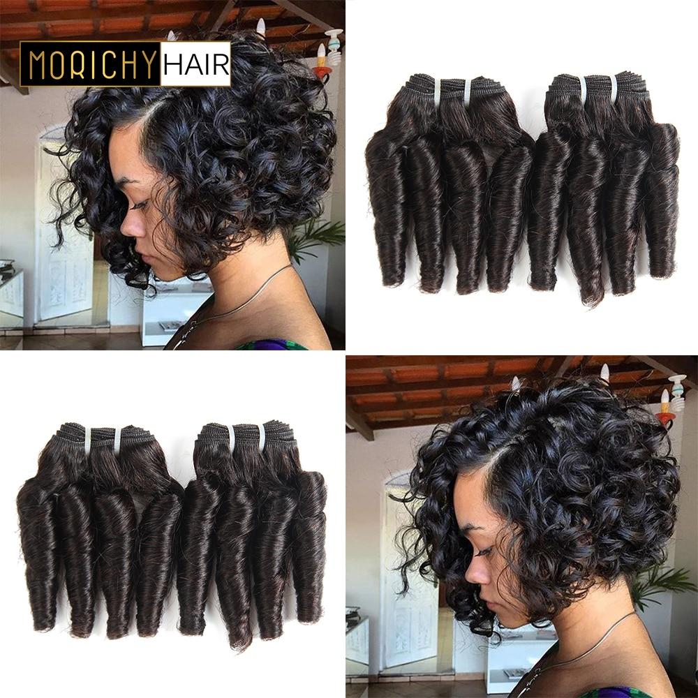 Morichy Cheveux Funmi Cheveux Bouclés Armure 4 Bundle Offres Gonflable Brésilien Bouclés de Cheveux Humains Bundles Spirale Curl 50 g/pièce Livraison gratuite