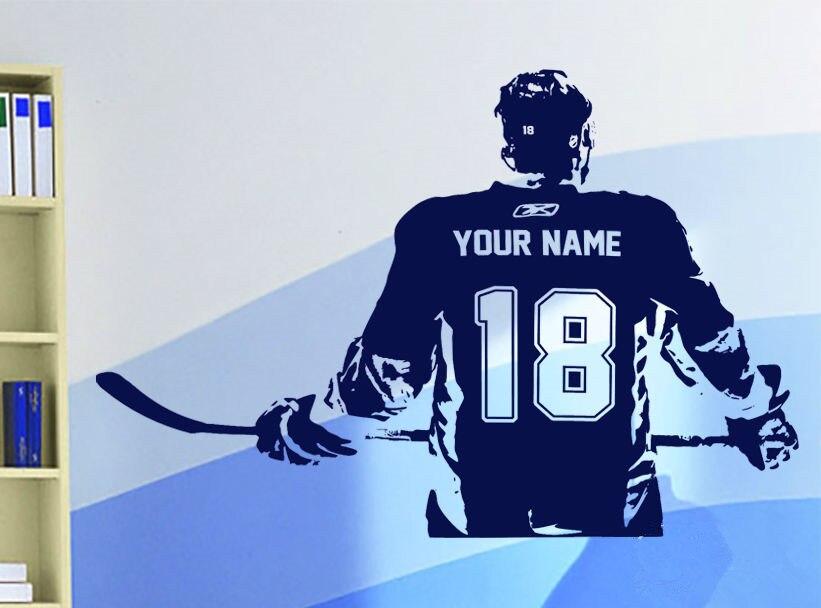 Lojtari hokej Artikujt Wall Decal Zgjidhni numrin e emrit Dekor në - Dekor në shtëpi - Foto 4