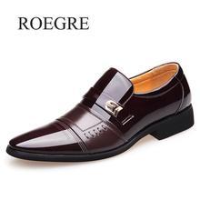 2019 New Casual Shoes Men Wedding Dress Shoes Black Shoes Round Toe Flat Business British Lace-up Men's Shoes