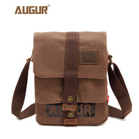 AUGUR Multifunction Canvas Single Mini Shoulder Bags Brand Vintage Military Men Messenger Bag Small Flap Male