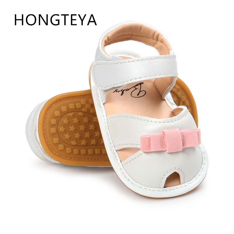 Hot sell baby shoes first walker summer leather baby girls soft shoes hard rubber sole baby moccasins shoes baby princess shoes