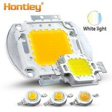 Hontiey высокомощный светодиодный чип с теплым чистым холодным белым освещением 1 Вт 3 Вт 5 Вт 10 Вт 20 Вт 30 Вт 50 Вт 100 Вт интегрированная матричная лампа COB