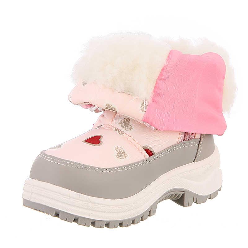 Симпатичные Орел, зимняя одежда для девочек, теплые Нескользящие зимние сапоги детские Альпинизм Лыжный Спорт теплые валенки школьный на открытом воздухе; Большие европейские Размеры 22-33