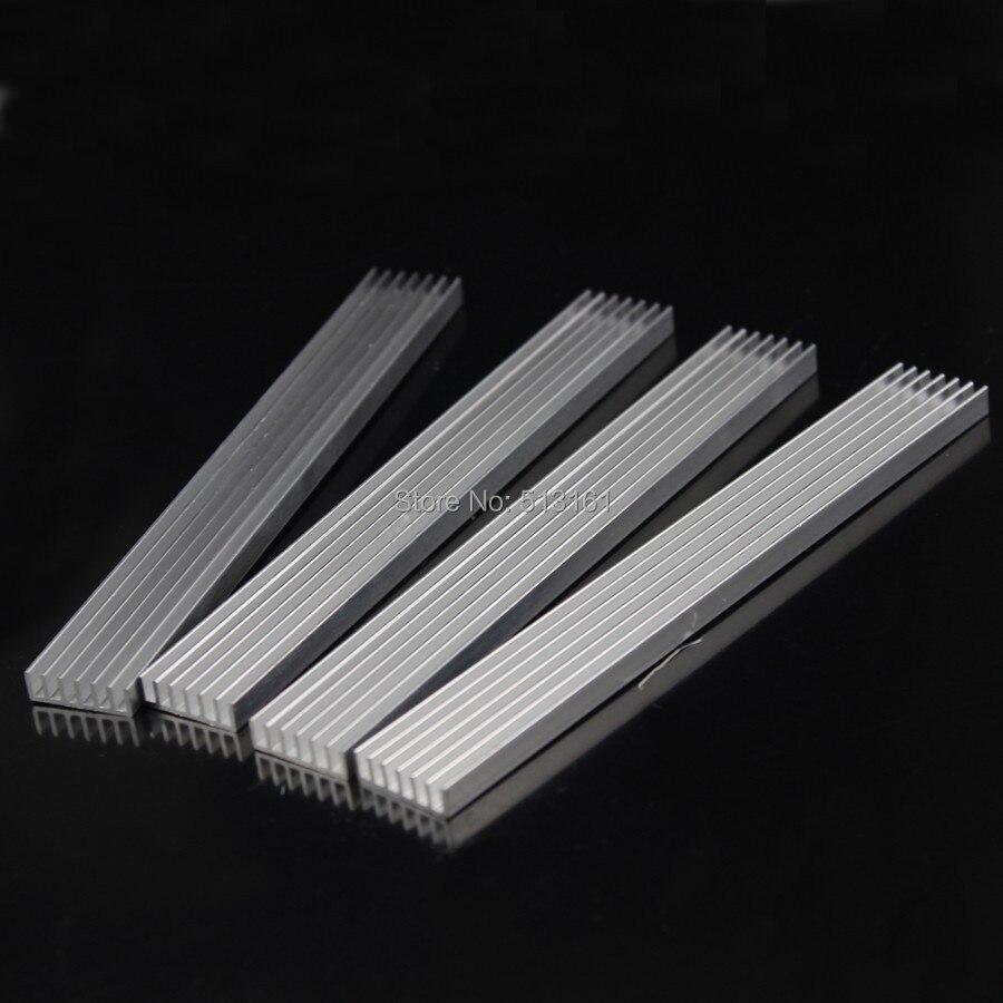 10 pçs/lote 150x20x5mm DIY Cooler Dissipador de calor de Alumínio Dissipador De Calor Chip para LED IC Transistor De Potência 150mm