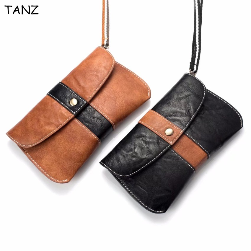 TANZ Retro Men PU Leather Fanny Waist Bag Cell Mobile Phone Case For iphone Coin Purse Pocket Belt Bum Pouch Pack Wallet Handbag