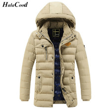 Hot Sell Brands 2017 New Men's Thick Jackket Men Winter Jacket Big Size XXXL New Arrival Casual Slim Cotton With Hooded Parkas