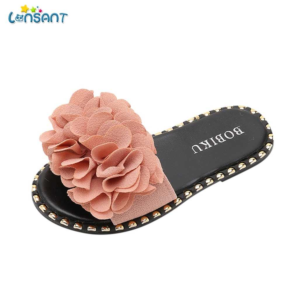 LONSANT Girls Shoes Princess Summer Children Kids Baby Girl Flower Colorful Flat Slipper Girls Casual Shoes Sandal Girls Shoes