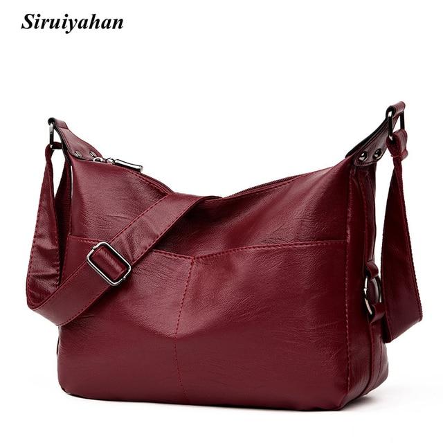 1f5de4debe Siruiyahan Luxury Handbags Women Bags Designer Brand Famous Leather Shoulder  Bags Women Solid Bolsas Feminina Bolsos Mujer