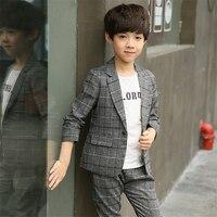 Dollplus Boy Blazers Kids Children Suits 2019 Spring Boys Formal Long Sleeve Boys Suits for Weddings Fashion Children Suit