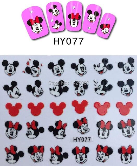 Hy 077 lindo Mickey Mouse diseño de uñas etiquetas engomadas del ...