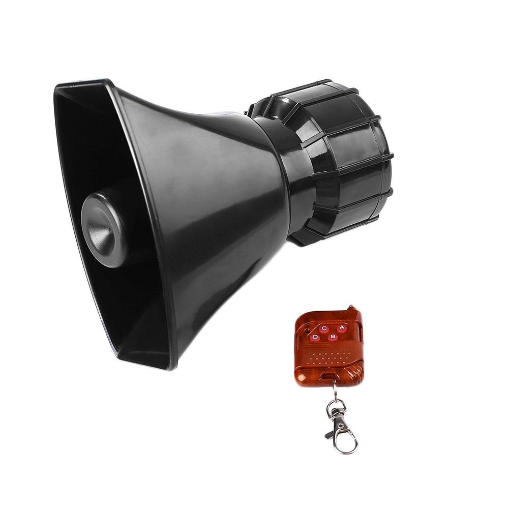 В 12 в Ван Вт 100 Вт 4A супер громкий дистанционное управление беспроводной звуковой сигнал Рог МегаФон