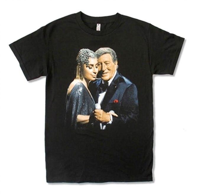 Lady Gaga and Tony Bennett-Cheek To Cheek Live Tour-Black T-shirt