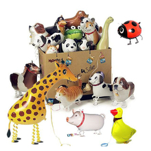 3D Cartoon Walking Animal Balloon  s Children Baby Balloon B