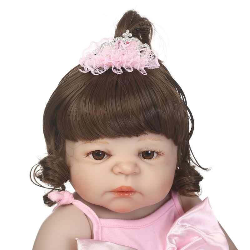 NPK bonucas возрождённая 22 дюймов Полностью силиконовая виниловая Кукла Reborn Baby Dolls 55 см новорожденная Реалистичная кукла Bebes Reborn подарок на день рождения для девочки