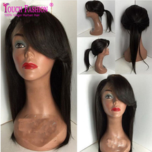 Summer Bob Wig For Black Women Brazilian Full Lace Wig With Side Bangs Can Be Ponytail Bob Hair Cut Lace Front Human Hair Wig
