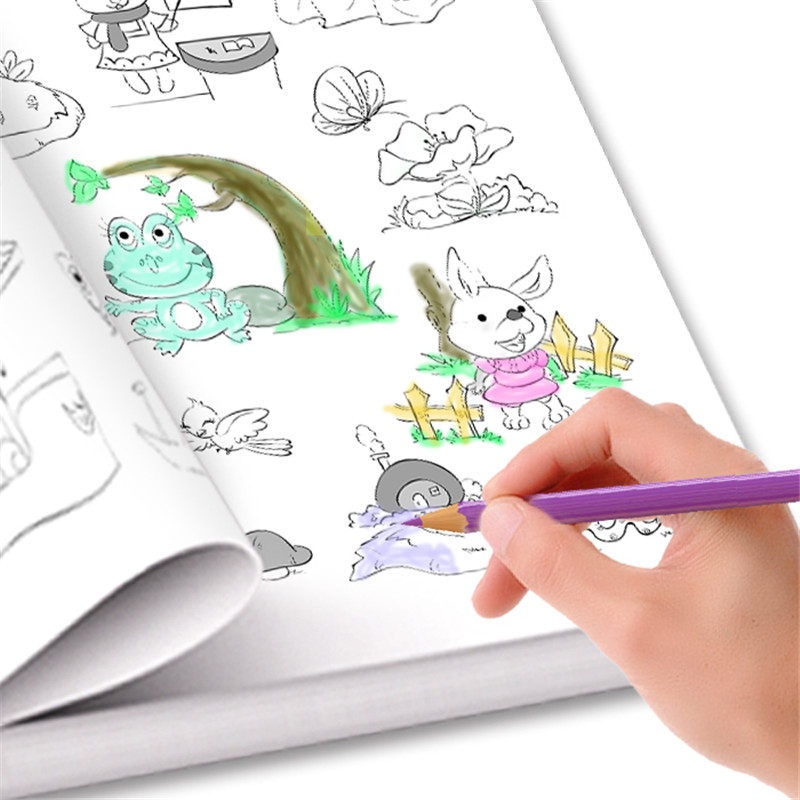 New 6000 Animal /Fruit / vegetable / plant Cartoon Baby Drawing Book Coloring Books for Kids Children Painting in total 2 english original children s books series organs looking through the book look inside kid original baby educational picture book