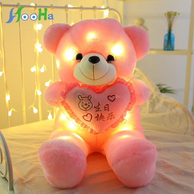7d9eabc3994a 50cm Creative Luminous Teddy Bear Led plush Light pillow Animals Plush Toy  Colorful Glowing Christmas Gifts for girls present